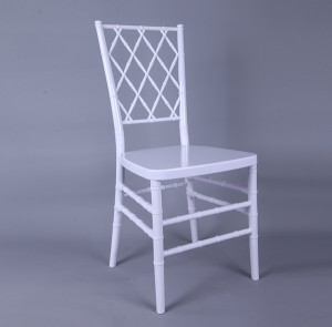 Resin diamond chair white