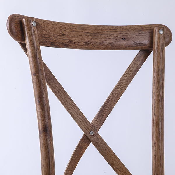 Factory made hot-sale Wholesale Wedding Party Resin Chair - Wooden cross back chairs A56 Light brown – HENRY FURNITURE