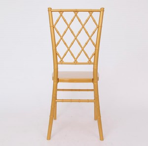 Resin diamond chair Golden