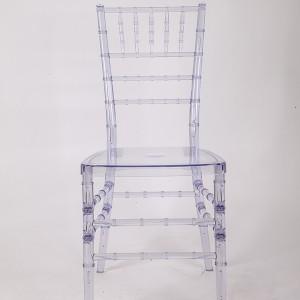 Resin Chiavari chair transparent