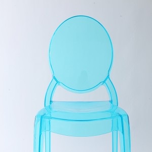 Resin sofia chairs 36-9007L Transparent blue
