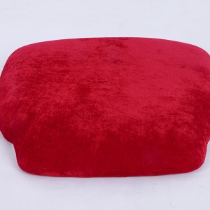 velvet Hard cushions Ivory red