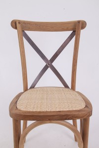 Wooden cross back chairs  log color N1