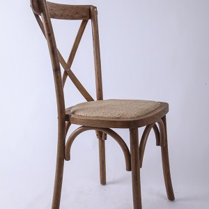 Wooden cross back chairs A56 Light brown