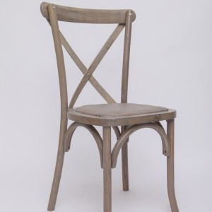 Wooden cross back chairs YDL7 Rattan ash