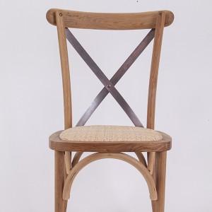 ხის ჯვარი უკან სკამები შესვლა ფერი N1
