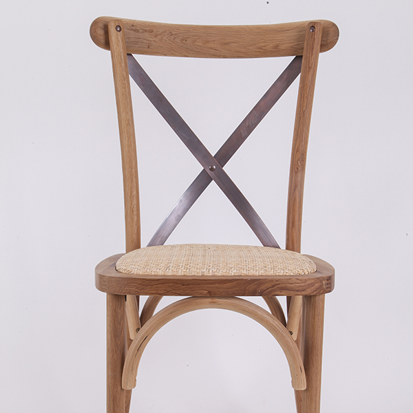 Wooden cross back chairs  log color N1 Featured Image