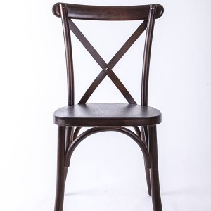 Wooden cross back chairs Deep fruit wood B-F4