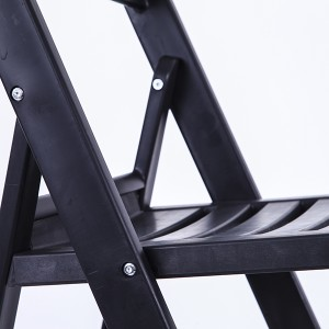 Resin folding chairs 40-8805R black