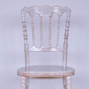UK style napolan chair Golden Wash white