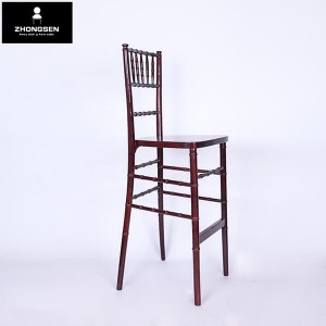 Wooden chiavari barstool chairs Jujube red