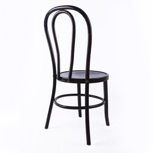 Wooden bentwood thonet chair black