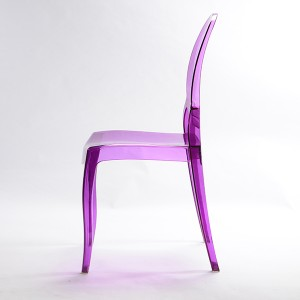Resin sofia chairs 36-9007L Transparent purple