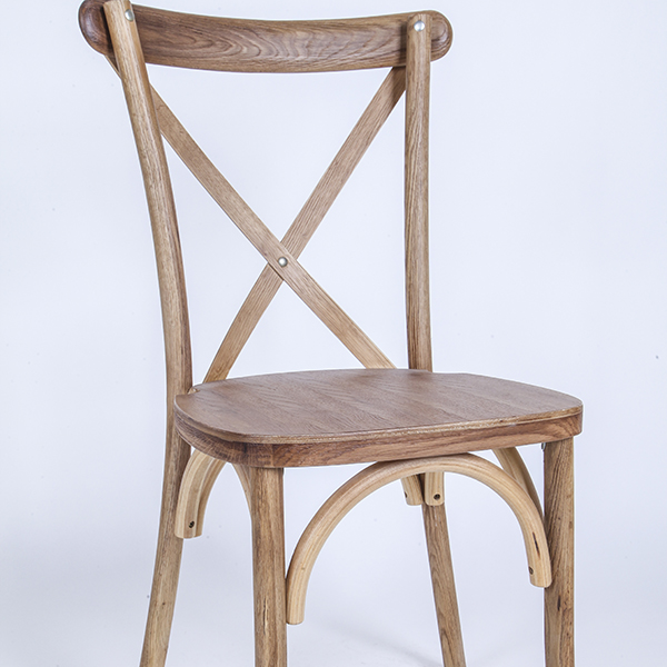 Big Discount Wood Chairs For Wedding - natural colour-Oak Wood Cross Back – HENRY FURNITURE