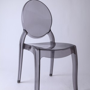 Resin sofia chairs 36-9007L Transparent ash