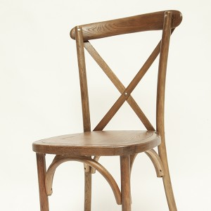 cross back chair(large seat) Light brown