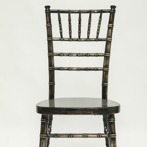 Uk style chiavari chair wash black