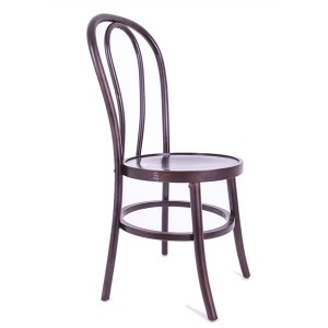 Wooden bentwood thonet chair claret
