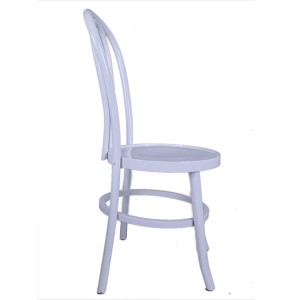 Wooden bentwood thonet chair white