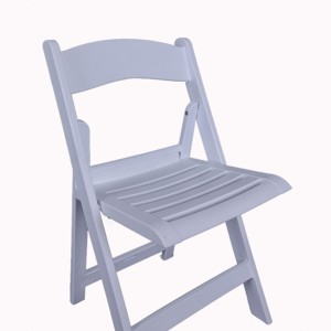 Resin folding chairs 40-8805R white