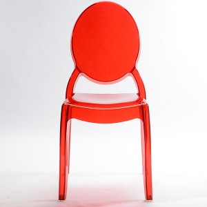 Resin sofia chairs 36-9007L transparent red