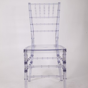 Resin Chiavari chair transparent