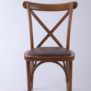 Beech wood cross back chair