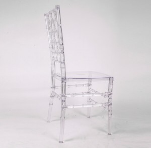 Resin diamond chair transparent