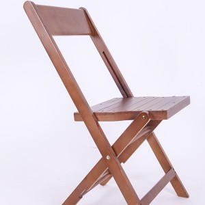 Wooden folding chairs fruitwood