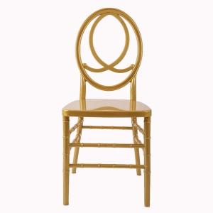 silla de resina de Phoenix de oro