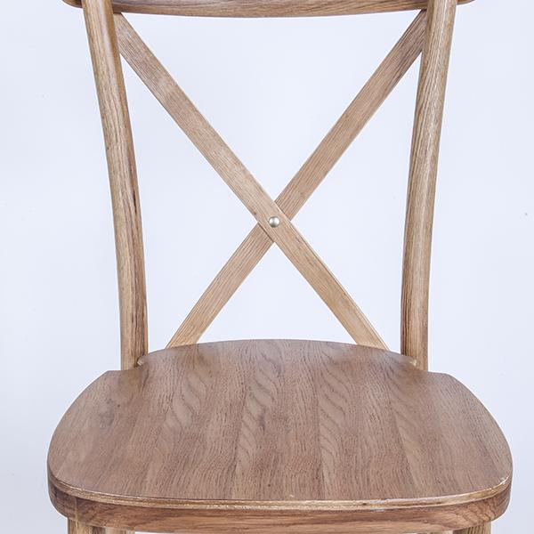 Hot-selling Aluminum Chiavari Chair - natural colour-Oak Wood Cross Back – HENRY FURNITURE