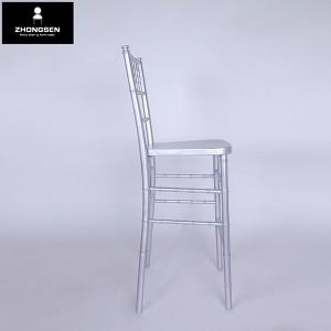 Wooden chiavari barstool chair silvery