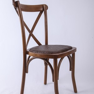 Beech wood cross back chair