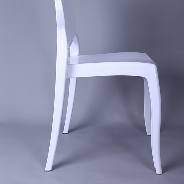 Wholesale Price China Metal High Back Tiffany Bar Chair - Resin sofia chairs 36-9007L white – HENRY FURNITURE