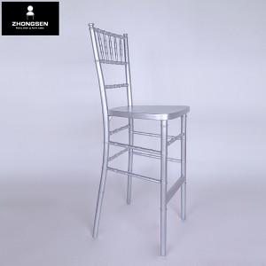 Wooden chiavari barstool chairs silvery