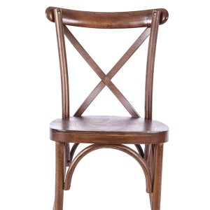 Wooden cross back chairs Light fruit wood