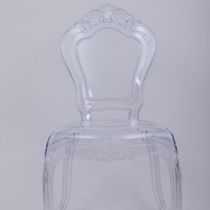 PC resin bella chairs without arms transparent