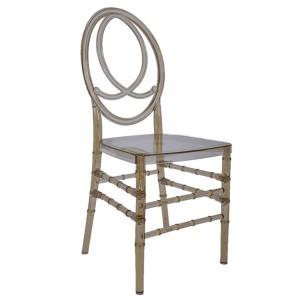 Resin double fish chairs cyan