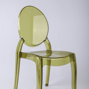 Resin sofia chairs 36-9007L Transparent green