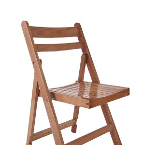 Wooden Slatted folding chairs Raw wood color