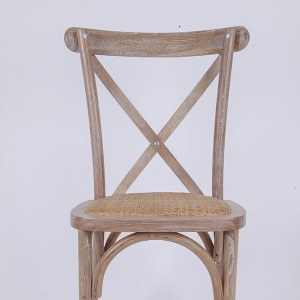 Wooden cross back chairs W3 Rattan