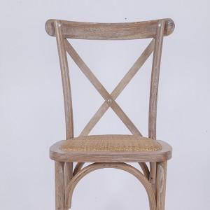 Top Quality Plastic Chair Chiavari - Wooden cross back chairs W3 Rattan  – HENRY FURNITURE