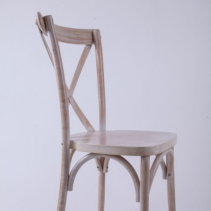 Wooden cross back chairs Conventional water washing