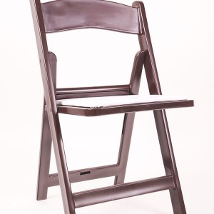 Resin folding chairs brown