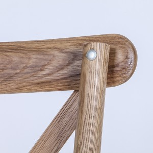 natural colour-Oak Wood Cross Back