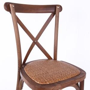 Beech wood cross back chair Fruit wood