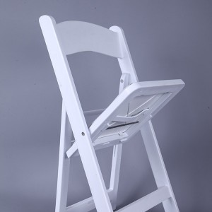 Resin folding chairs white