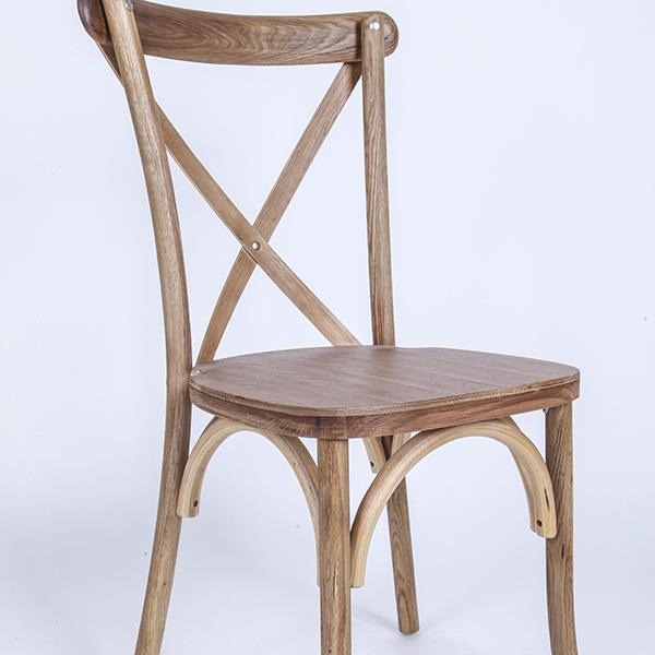 Factory Cheap Aluminum Chiavari Bar High Chair - natural colour-Oak Wood Cross Back – HENRY FURNITURE