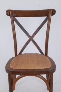 Wooden cross back chairs fruitwood N3