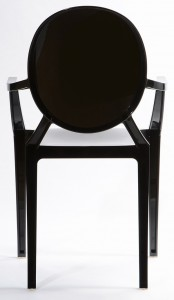 Resin ghost chairs with arms black